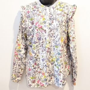 2/$20 H&M floral cotton blouse sz 12